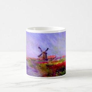 Monet moulin coffee mug