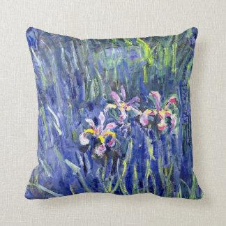 Monet Painting - Irises 2 Throw Pillow