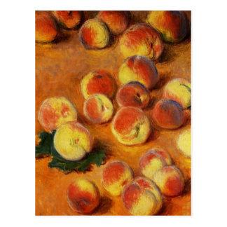 Monet Peaches Postcard