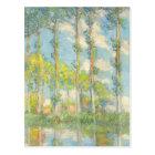 Monet Poplars Vintage Landscape Impressionism Postcard