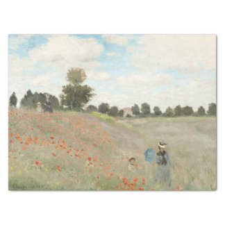 Monet Poppies Wildflowers Meadow Tissue Paper
