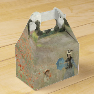 Monet Poppy Field Wildflower Flowers Favor Box