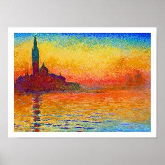 Monet Poster Print: San Giorgio Maggiore at Dusk