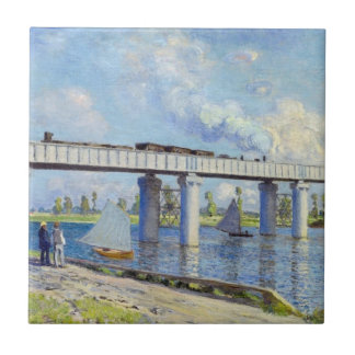 Monet: Railway Bridge at Argenteuil Ceramic Tile