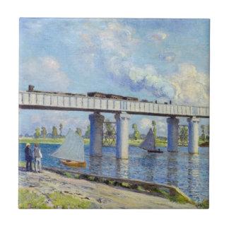 Monet: Railway Bridge at Argenteuil Tile