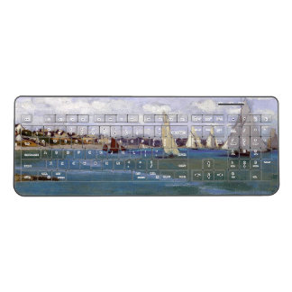 Monet Regatta Yachts Beach Boats Wireless Keyboard