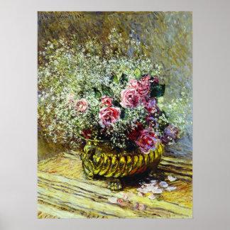 Monet Roses Poster