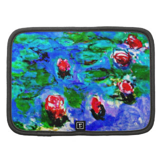 Monet s famous painting Water Lilies macro view Folio Planners