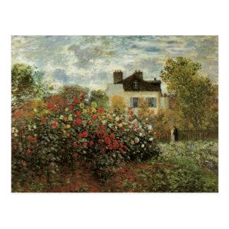 Monet s Garden at Argenteuil Vintage Impressionism Post Card