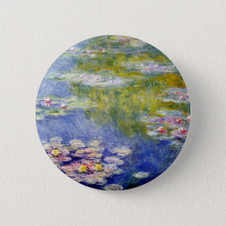 Monet's Water Lilies 2 Inch Round Button