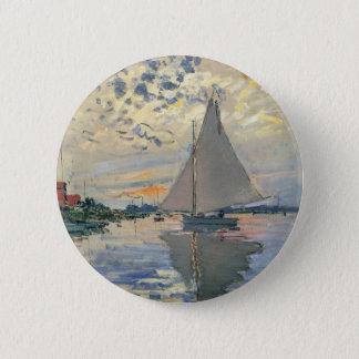 Monet Sailboat 2 Inch Round Button