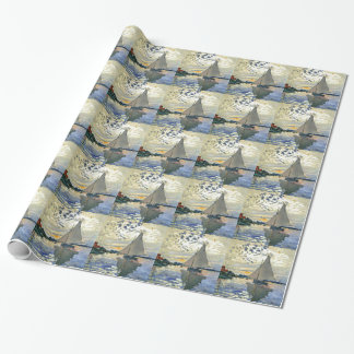 Monet - Sailboat at Le Petit-Gennevilliers Wrapping Paper