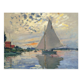 Monet Sailboat French Impressionist Postcard