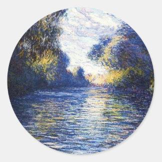 Monet Seine River Fine Art Sticker