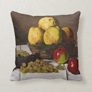 Monet - Still Life with Pears and Grapes Throw Pillow