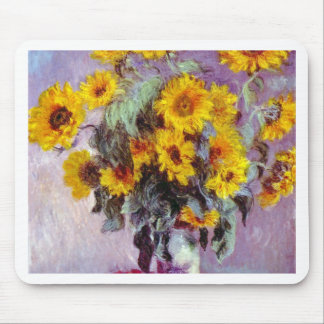 Monet Sunflowers Mouse Pads
