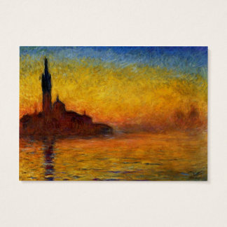 Monet Sunset in Venice Impressionist Painting Business Card