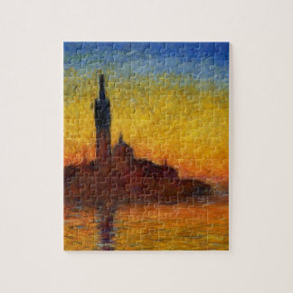 Monet Sunset in Venice Impressionist Painting Jigsaw Puzzle