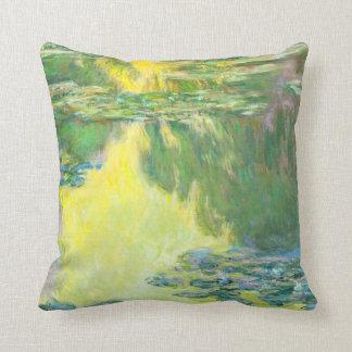 Monet Sunset Waterlilies Throw Pillow