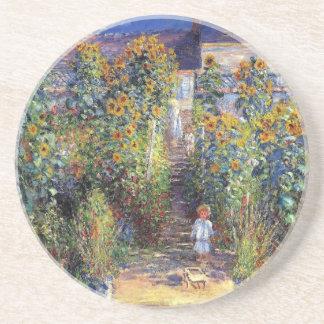 "Monet, ""The Artist's Garden at Vétheuil"" Coaster"