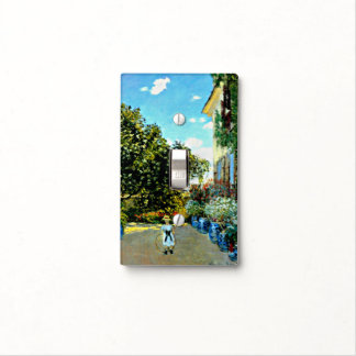 Monet - The Artist's House at Argenteuil Light Switch Cover
