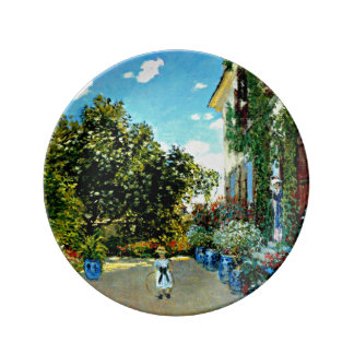 Monet - The Artist's House at Argenteuil Plate