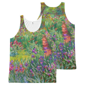 "Monet ""The Iris Garden at Giverny"" All-Over-Print Tank Top"