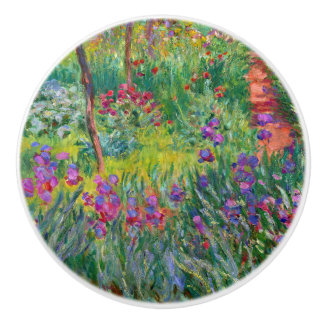 "Monet ""The Iris Garden at Giverny"" Ceramic Knob"