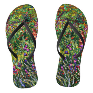 Monet - The Iris Garden at Giverny Flip Flops