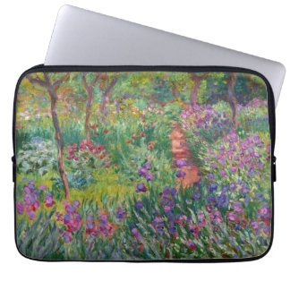 "Monet ""The Iris Garden at Giverny"" Laptop Sleeve"