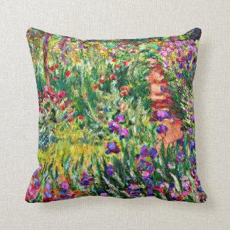 Monet - The Iris Garden at Giverny Throw Pillow
