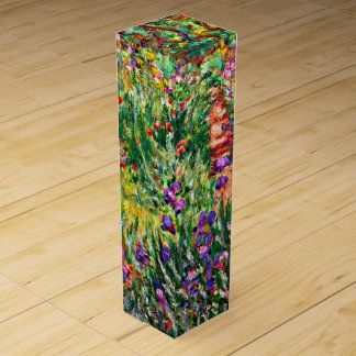 Monet - The Iris Garden at Giverny Wine Gift Box