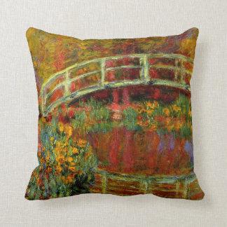 Monet - The Japanese Bridge Throw Pillow