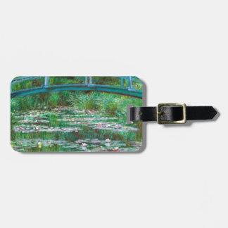 Monet The Japanese Footbridge Fine Art Luggage Tag