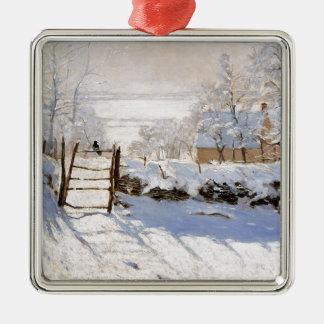 Monet - The Magpie Metal Ornament