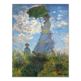"Monet The Promenade Woman with a Parasol 4.25"" X 5.5"" Invitation Card"