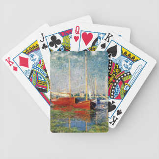 Monet - The Red Boats Argenteuil Bicycle Playing Cards