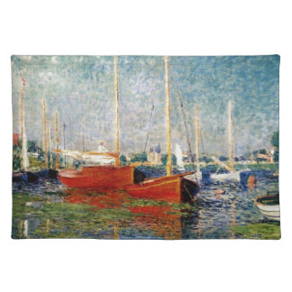 Monet - The Red Boats Argenteuil Placemat