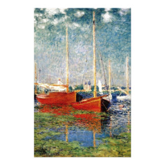 Monet - The Red Boats Argenteuil Stationery