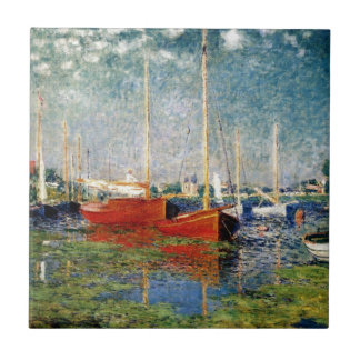 Monet - The Red Boats Argenteuil Tile