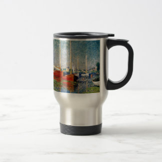 Monet - The Red Boats Argenteuil Travel Mug
