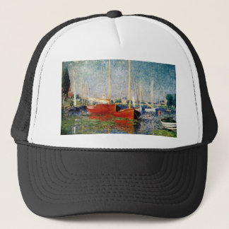 Monet - The Red Boats Argenteuil Trucker Hat
