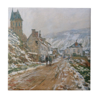 Monet - The Road in Vetheuil in Winter Ceramic Tiles
