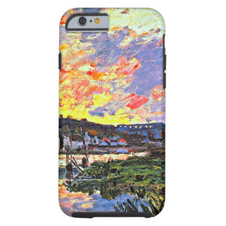 Monet - The Seine at Bougival in the Evening art Tough iPhone 6 Case
