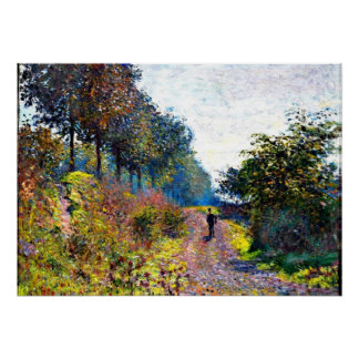 Monet - The Sheltered Path Poster