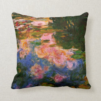 Monet - The Water Lily Pond, 1919 Throw Pillow