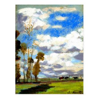 Monet - Three Cows in a Pasture Postcard