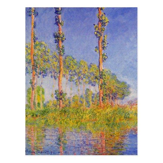 Monet Three Poplars Summer Vintage Landscape Postcard