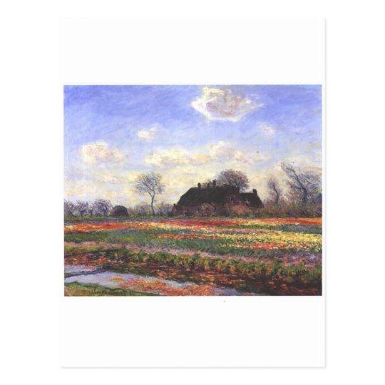Monet-Tulpenfelder in Sassenheim-1886 Postcard