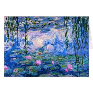 Monet - Water Lilies, 1919 artwork Card